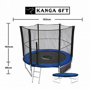 Trampolin Abdeckung Winter : kanga 1 8m 2 4m 3m 3 7 m trampolin mit sicherheitsnetz leiter winterabdeckung ebay ~ Markanthonyermac.com Haus und Dekorationen