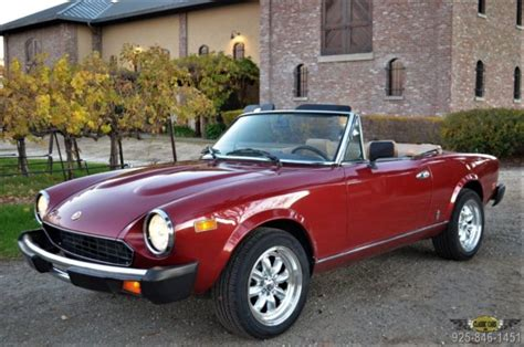 1982 Fiat Spider 2000 by 1982 Fiat Spider 2000 Low Mileage Ca Car Beautifully