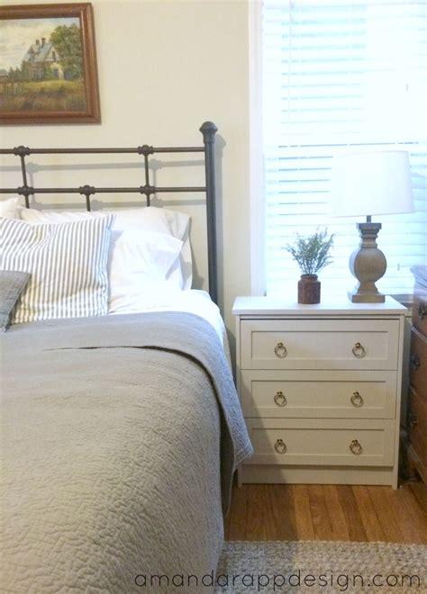 bedroom update ikea rast hack nightstands chalk paint