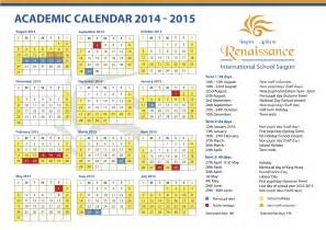 2014 2015 School Calendar with Holidays