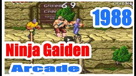 1988 Ninja Gaiden Arcade Old School Game Playthrough Retro