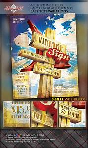 Vintage Motel Sign Event Flyer Template | GraphicRiver