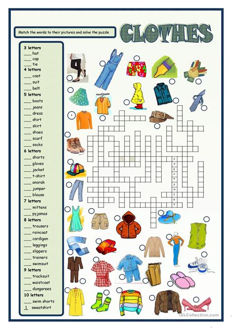 clothes worksheet free esl printable worksheets made by