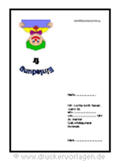 vorlage kindergeburtstag einladung din  format