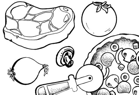 dessin cuisine pizza dessins