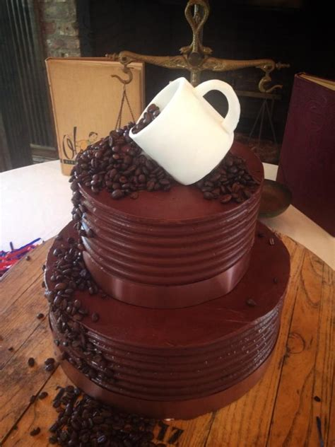 1/2 cup (125 ml) butter, softened. Coffee beans and coffee cup chocolate groom's cake   Coffee wedding cake, Chocolate grooms cake