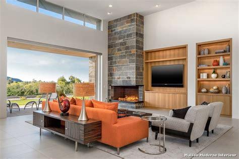 maison moderne interieur with contemporain salon