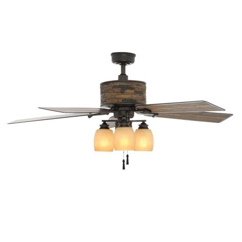 outside fans with lights hton bay ellijay 52 in indoor outdoor iron