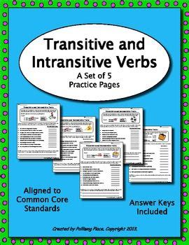 Intransitive Verb, Grammar And Grammar Practice On Pinterest