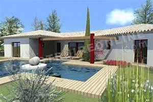 vente de plan de maison en v With charming modele de maison en l 1 maison moderne en u
