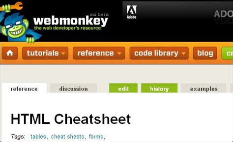 cheat sheets  web developers  images web