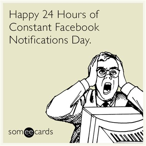 Birthday Ecard Meme - free birthday ecard happy 24 hours of constant facebook notifications day quotes pinterest