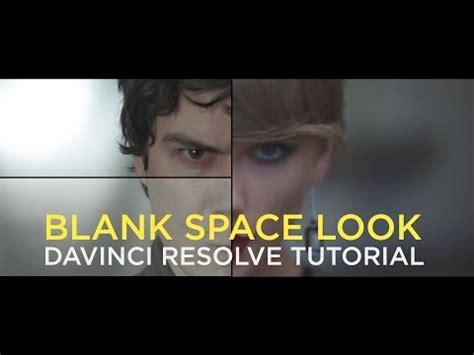 davinci resolve tutorial taylor swift blank space