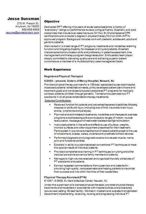 physiotherapist resume template    write  cv