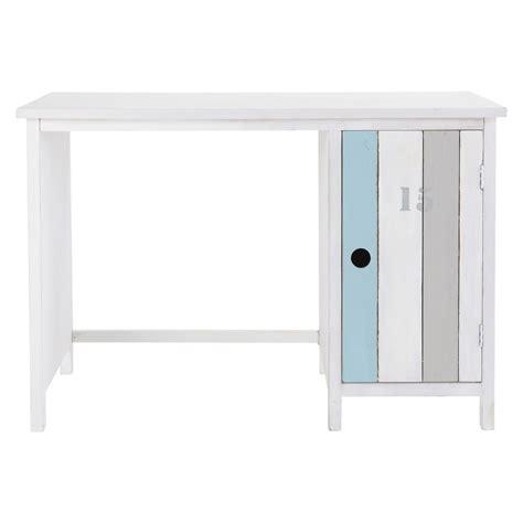 bureau 110 cm bureau en bois blanc l 110 cm océan maisons du monde