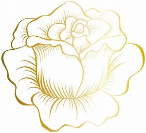 Golden Rose PNG Clip Art Image | Butterfly flowers & Bow ...