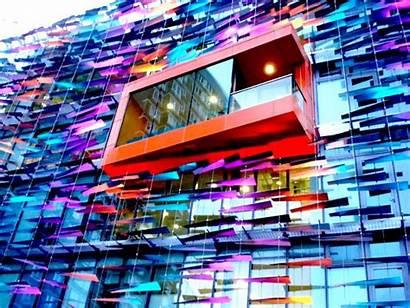 Facade Facades Interactive Louvers Building Glass Wall