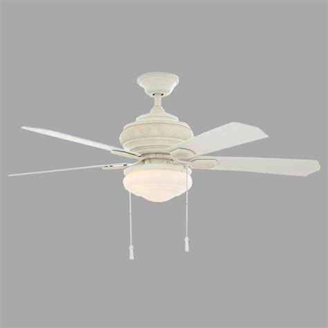 antique white ceiling fan with light hton bay portsmouth 52 in indoor outdoor vintage white