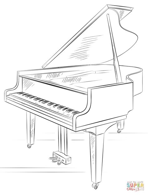 piano coloring pages grand piano coloring page free printable coloring pages