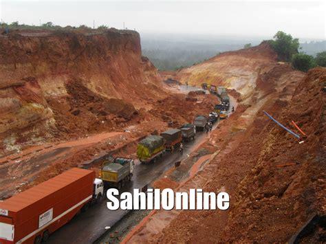 black spots on national highways traffic restored at divagi and ottinene on nh 66 sahilonline