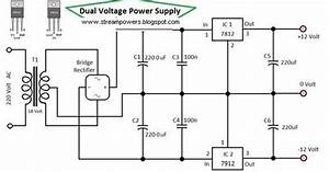 Dual Voltage Power Supply 12 Volt Circuit Diagram