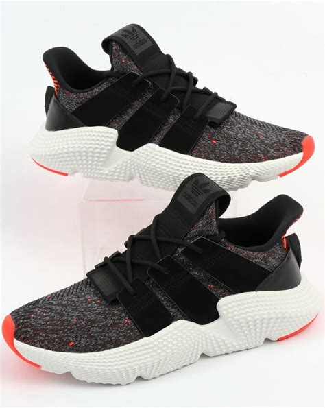 Adidas Prophere Trainers Black/Black/Solar Red,modern,tech ...