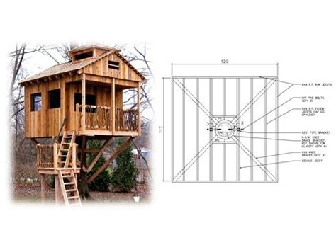 Tree House Plans For One Tree Best Of Square Treehouse