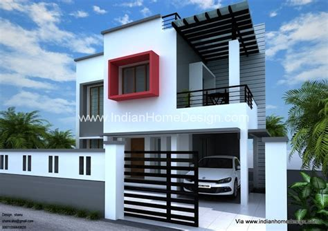 Home plan and elevation design for a 1800 sq ft 3 bedroom House