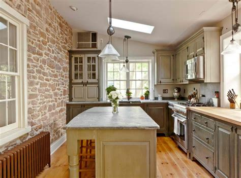 stone walled kitchen designs home design lover