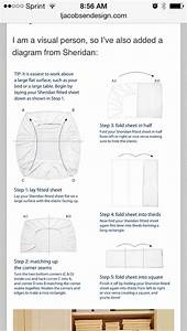 Diagram For Folding Fitted Sheet