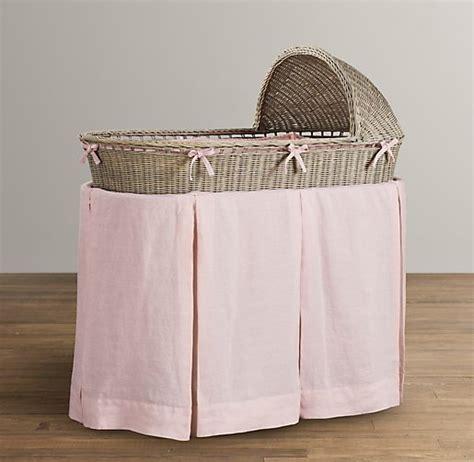 washed organic linen bassinet bedding