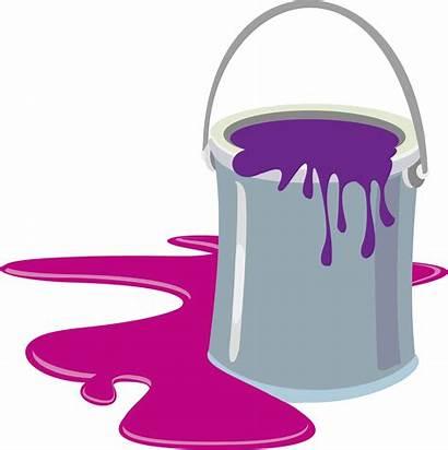 Bucket Paint Cartoon Clip Clipart Milk Transparent