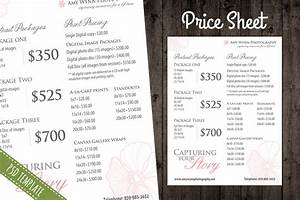 Price List Template - Pricing Sheet ~ Flyer Templates on Creative Market