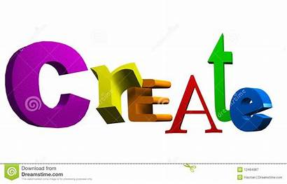 Text Create Word 3d Dreamstime Royalty Illustration