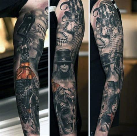 Maybe you would like to learn more about one of these? 60 Jack Daniels Tattoo Designs For Men - Whiskey Ink Ideas