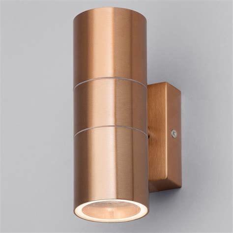 up and down wall lights kenn up down light outdoor wall light copper from