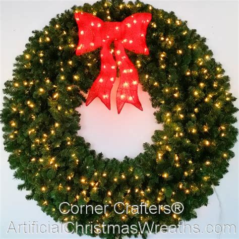 60 inch lighted outdoor christmas wreath 60 inch l e d lighted wreath cornercrafters wreaths