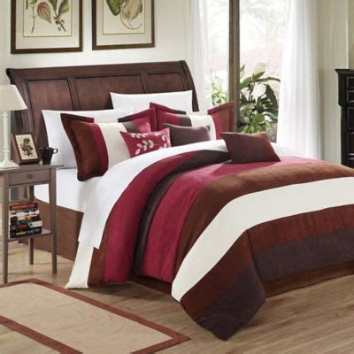 buy burgundy bedding from bed bath beyond
