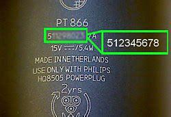find model number serial number philips