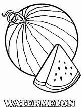 Watermelon Coloring Printable Drawing Slice Cartoon Fruits Getdrawings Getcolorings sketch template