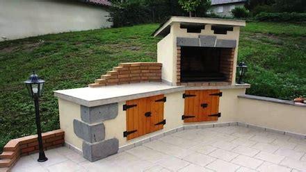 construire cuisine d été cuisines d 39 été en briques barbecues argentins