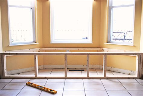 kitchen cabinet frames how to build a window seat in a weekend hometalk 2512