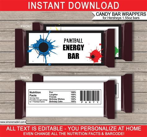 Paintball Hershey Candy Bar Wrappers  Personalized Candy Bars. Statement Of Purpose Graduate School. Address Labels Template Word. Resume Template High School Student. What Size Is An Album Cover. Cheap White Graduation Dresses. Simple Customer Service Resume Samples. 2016 Calendar Template Free. Notarized Custody Agreement Template