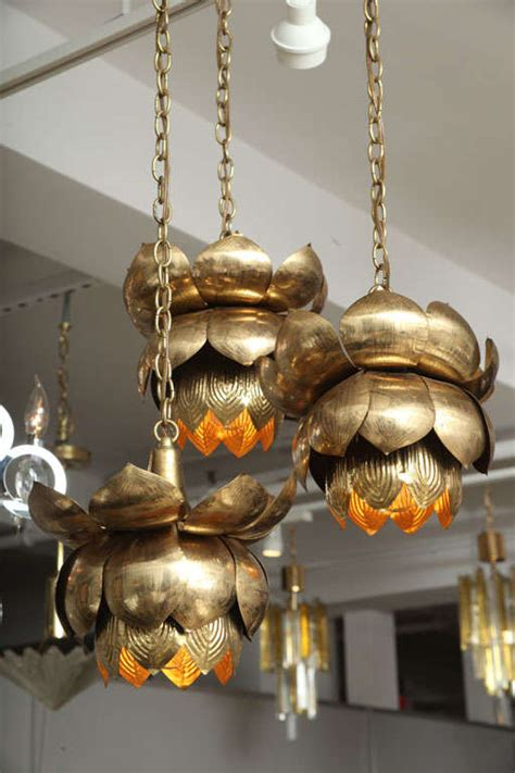 blossom chandelier brass lotus blossom chandelier at 1stdibs