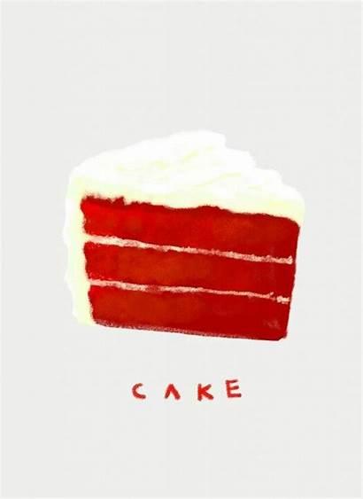 Velvet Cake Illustrations