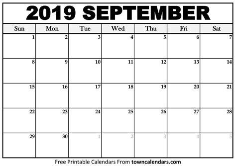 printable september  calendar calendar printables