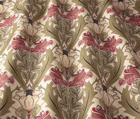 William Morris Upholstery Fabric by Iliv Deco Acanthus Cherry William Morris Style