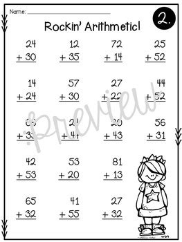 addition  subtraction double digit math facts