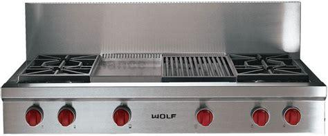 wolf 48 range top wolf 48 gas rangetop ss sealed burners charbroiled k n 1561