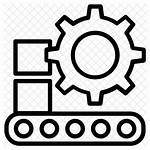 Icon Production Line Machinery Icons Manufacture Manufacturing